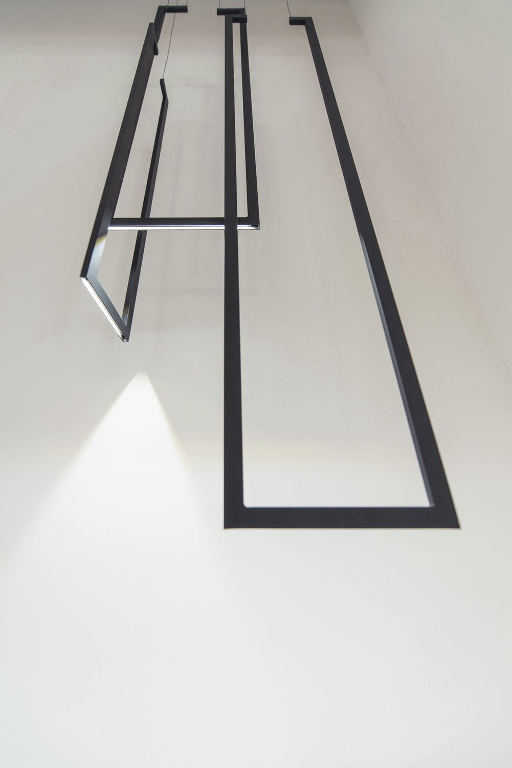 Lampadario design minimalista / in metallo laccato / led   frame ...