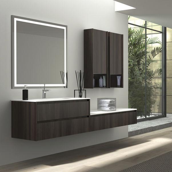 Mobile lavabo in legno / sospeso / moderno - APP - ISA BAGNO