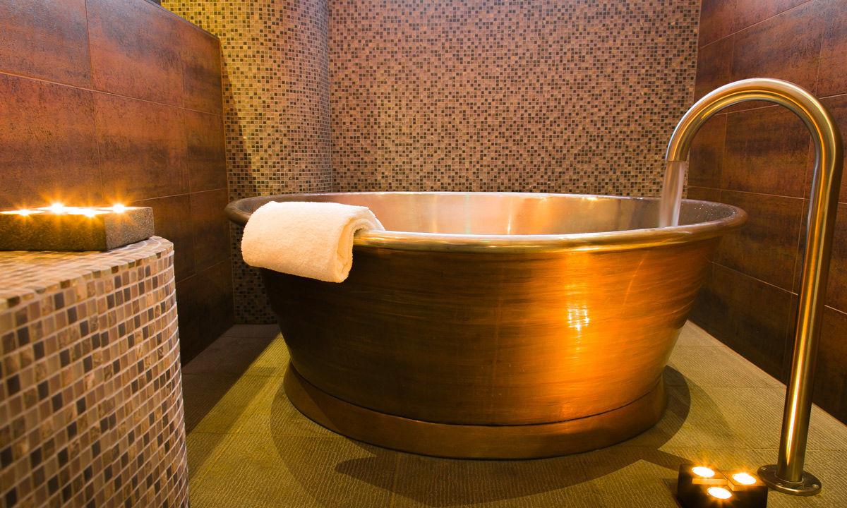 Vasca Da Bagno In Rame Prezzi : Vasca da bagno da appoggio tonda in rame in stagno