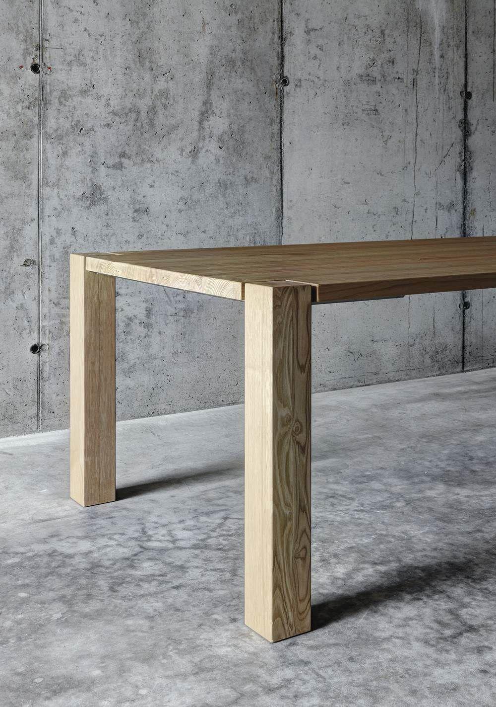 Tavolo da pranzo moderno / in noce / in legno massiccio / in ...