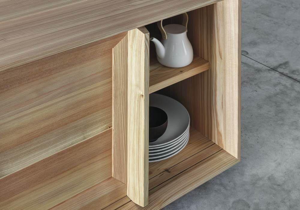 Credenza Moderna In Legno Massello : Credenza moderna in legno massiccio larice lares by