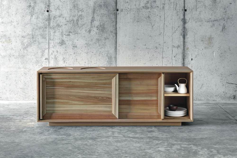 Credenza Moderna Legno Massello : Credenza moderna in legno massiccio larice lares by