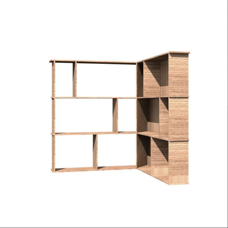 Libreria ad angolo / a muro / moderna / in legno - BOOK WALL ...