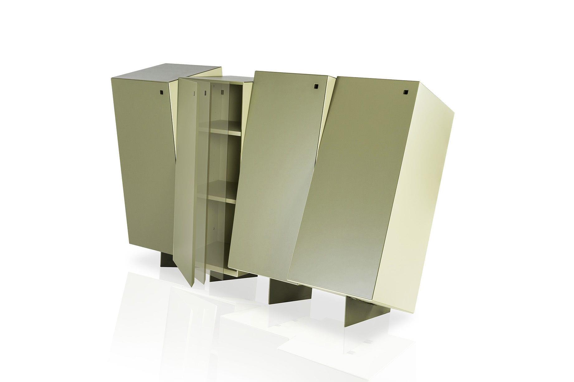 Credenza design originale in metallo in mdf laccato con