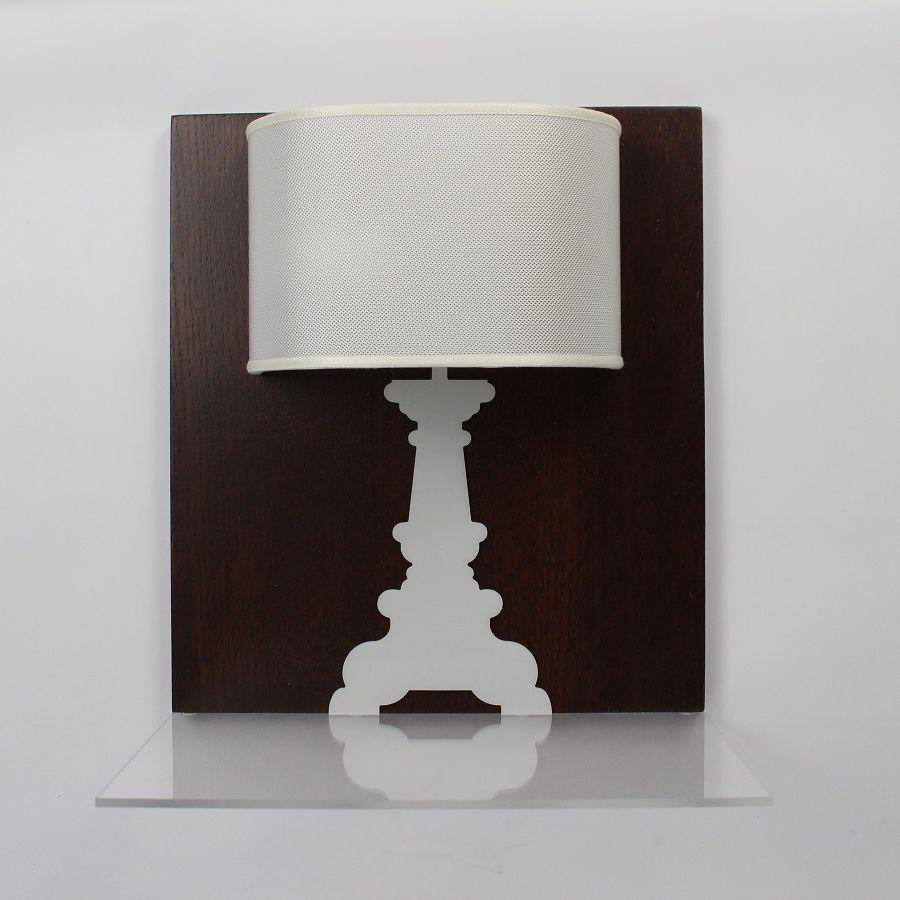 Applique moderna in tessuto in legno in plexiglas® p014