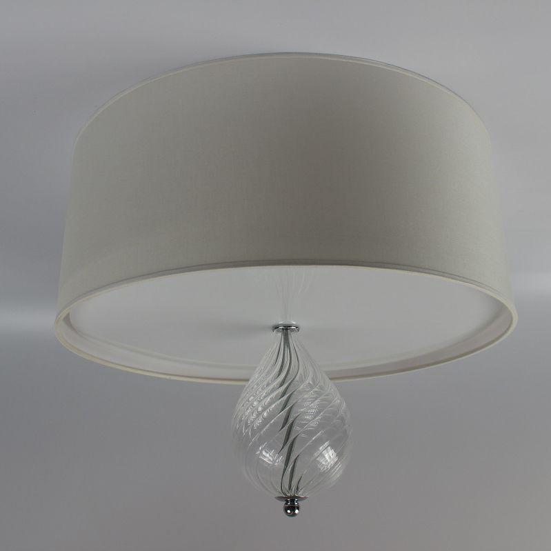 Plafoniere Tessuto : Plafoniera moderna tonda in vetro soffiato tessuto p