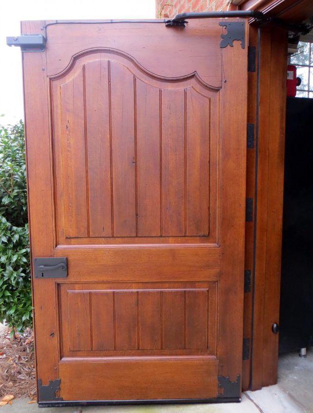 Porta battente per garage / in legno / automatica - CAUDLE CARRIAGE ...