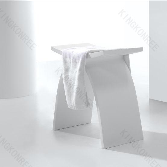 sgabello da bagno moderno in acrilico in solid surface kkr a