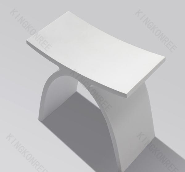 sgabello da bagno moderno in acrilico in solid surface kkr a kkr