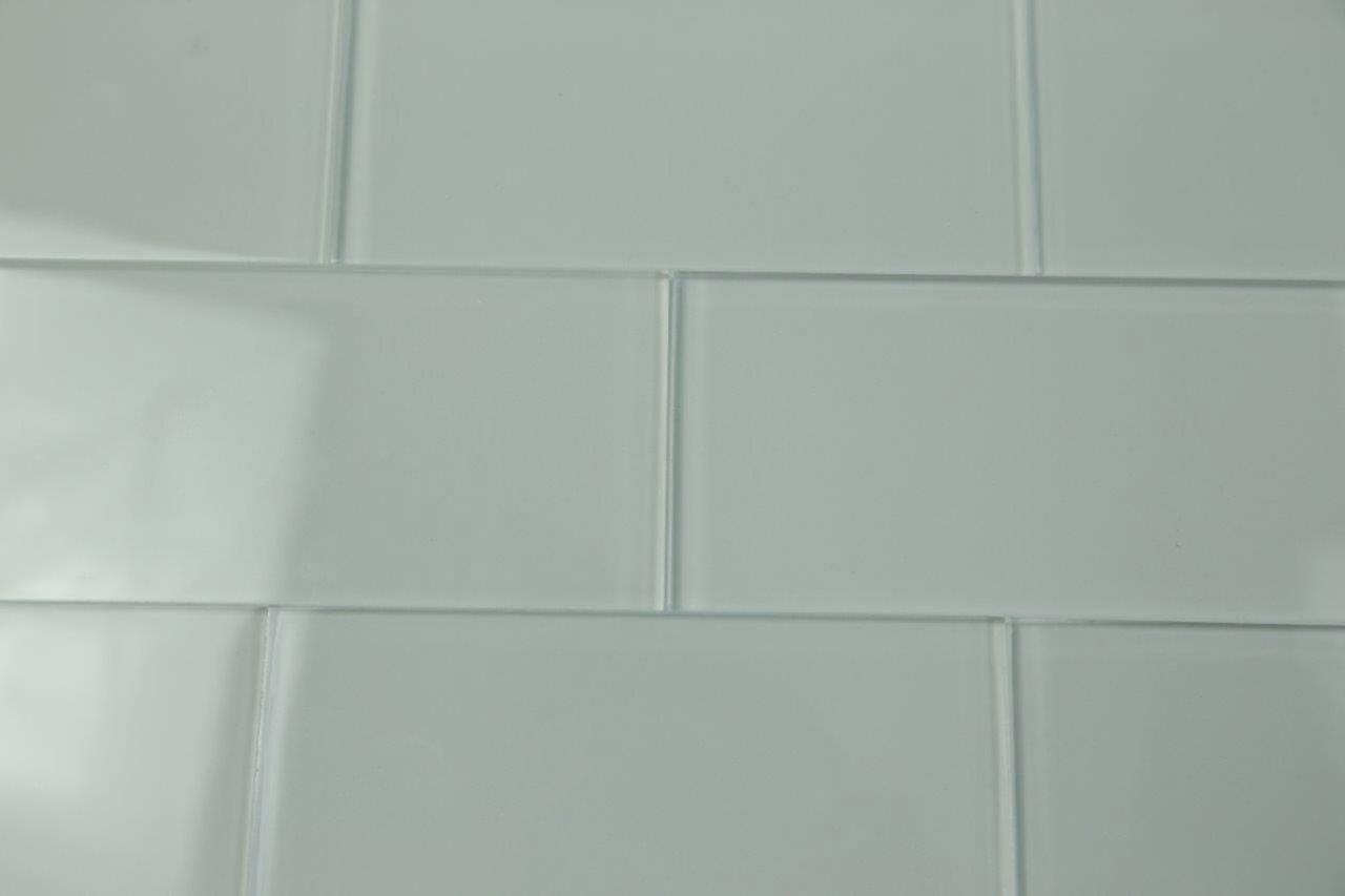 Spedizione gratuita grigio piastrella a mosaico in vetro grigio