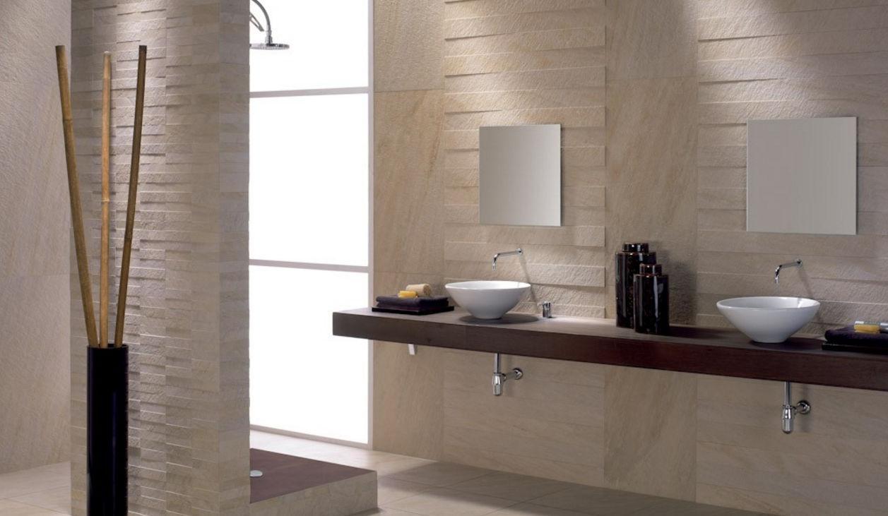 Piastrella da bagno da parete in gres porcellanato a rilievo