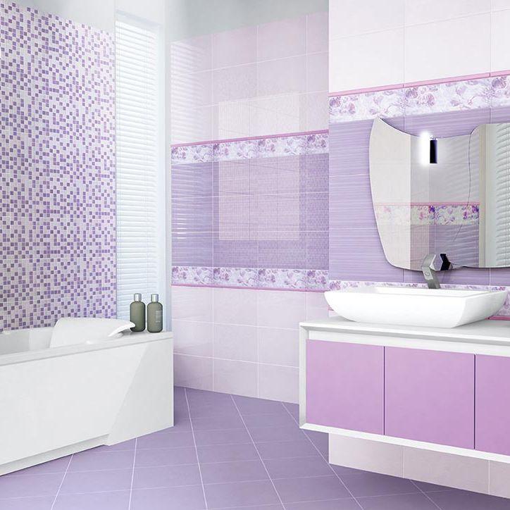 Piastrella da bagno / da parete / in ceramica / a motivi ...