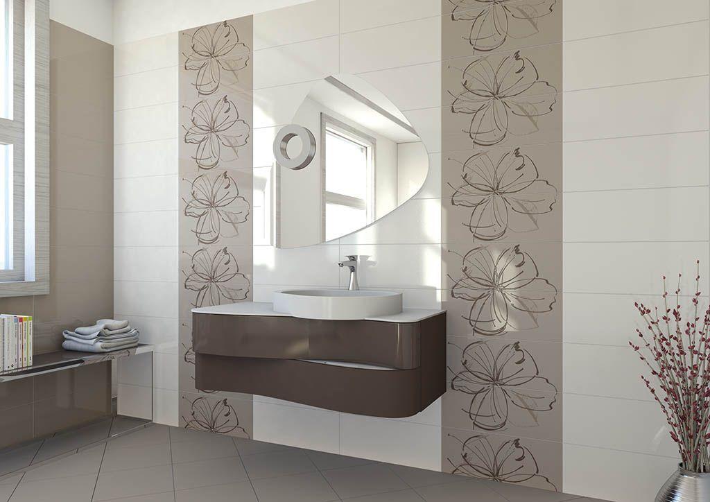 Piastrella da bagno da parete in ceramica a tinta unita
