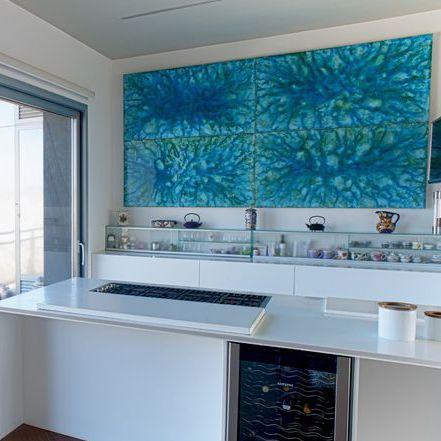 Pannello decorativo di rivestimento / in ceramica / per cucina / da ...