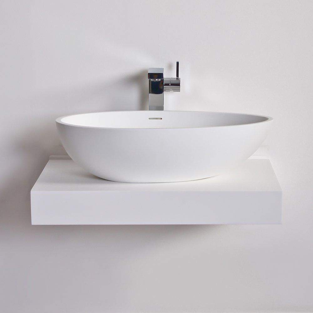 Piano lavabo in resina - 660 - Lusso Stone