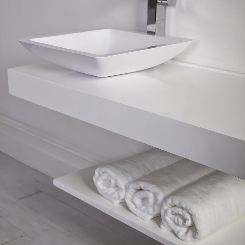 Piano lavabo in resina - 1000 - Lusso Stone
