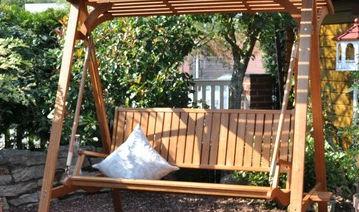 Dondolo Da Giardino In Legno : Dondolo da giardino in legno autoportante leco