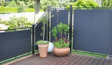 Paravento moderno / in tessuto / da giardino / portatili - VIEW AND ...
