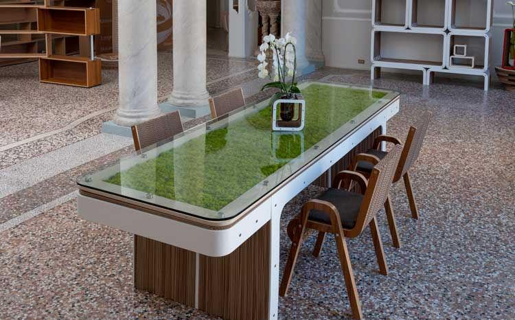 Tavolo Design In Legno : Tavolo design originale in legno in vetro in cartone