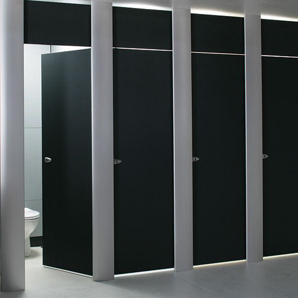 Cabina WC per bagno pubblico / in laminato / in MDF / in alluminio ...
