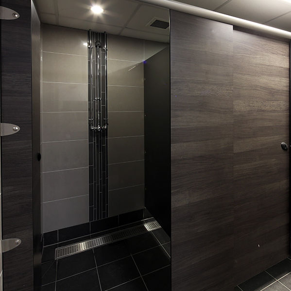 Box doccia in laminato / in acciaio inox / in alluminio / per bagno ...