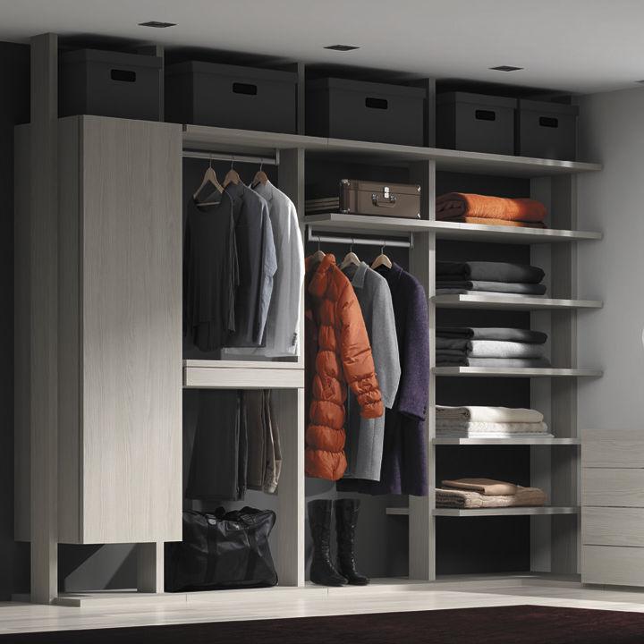 Cabina armadio da parete / moderna / in metallo - VISTA - Besform