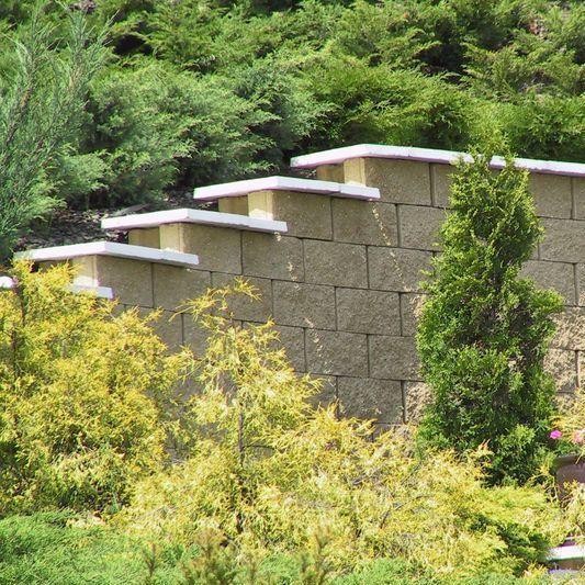 Mattoni Forati Per Recinzioni Giardino.Blocco Di Calcestruzzo Pieno Forato Per Muro Di Contenimento