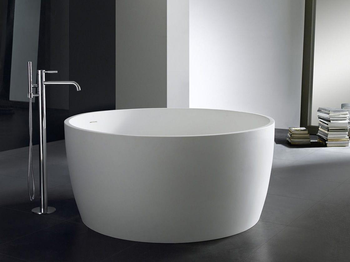 Vasca Da Bagno Tonda : Vasca da bagno da appoggio tonda ghisa minerale pg pg