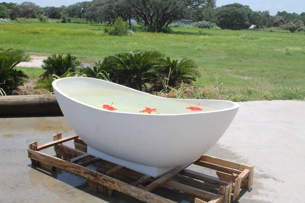 Vasca Da Terrazzo : Vasca da bagno da appoggio ovale in terrazzo cambria