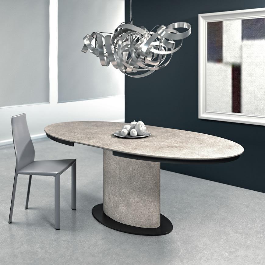 Tavolo da pranzo moderno / in metallo / in legno tinto ...