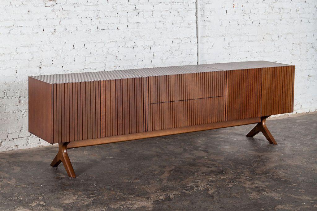Credenza Con Piedini : Credenza con piedi alti moderna in legno soma estudiobola