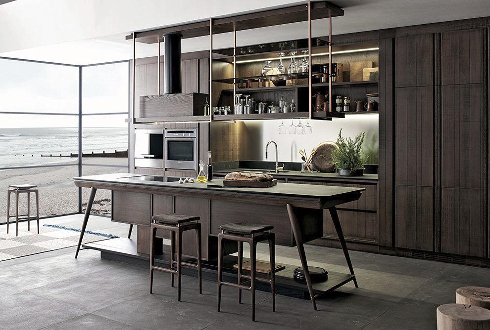 Cucina moderna / in legno / in ferro / con isola - LA CUCINA - Shake ...