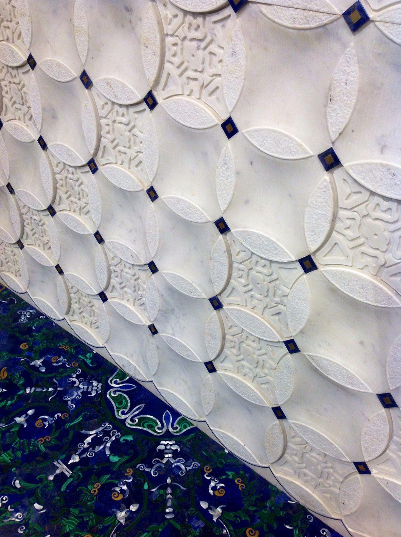 Pannello decorativo da parete / in marmo / in madreperla / 3d ...