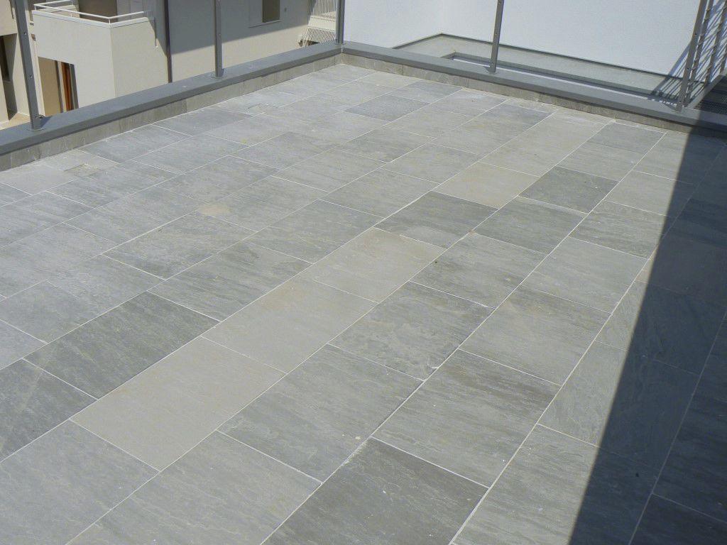 Pavimento In Pietra Naturale : Lastra in pietra in pietra naturale sabbiata per pavimento