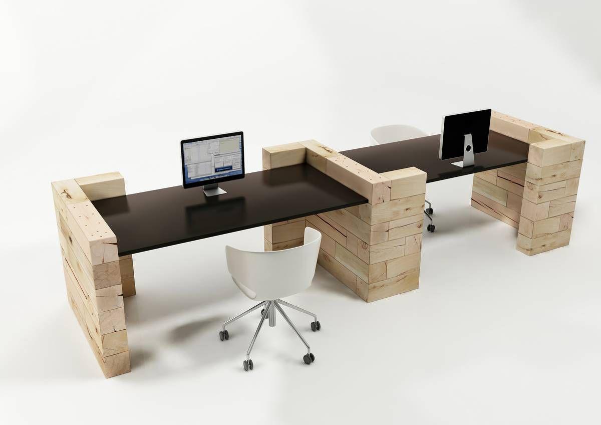 Scrivania Ufficio Faggio : Tectake scrivania porta pc computer tavolo ufficio con ripiano