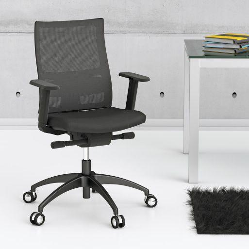 Sedia Da Ufficio Omp.Sedia Da Ufficio Moderna Con Braccioli Imbottita Con Rotelle