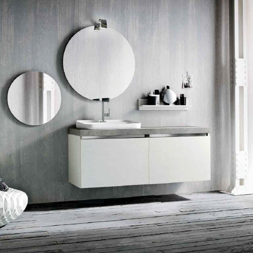 Mobile lavabo sospeso / in legno / moderno / con specchio - QB54 ...