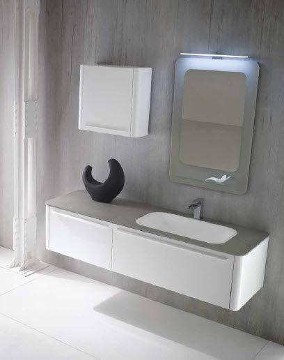 Bagno moderno / di pietre / laccato - AL05 - IDEAL BAGNI