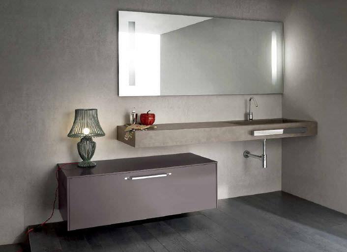 Mobile basso da bagno da parete mg ideal bagni