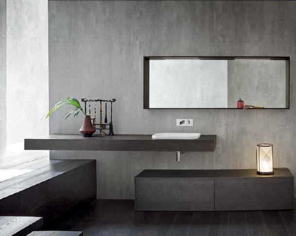 Piano lavabo in quercia - MG02 - IDEAL BAGNI