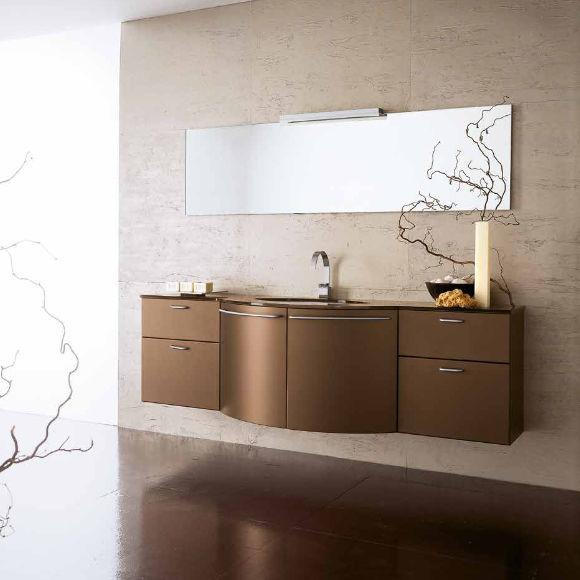 Mobile lavabo sospeso / in legno / moderno / laccato - AV12 - IDEAL ...