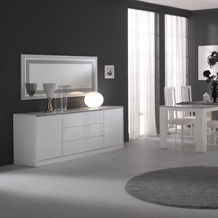 Credenza moderna / in legno laccato / bianca - NADIA - Ben Company ...