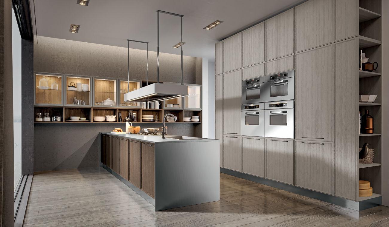Cucina moderna / classica / in legno / con isola - ESTETICA - Home srl