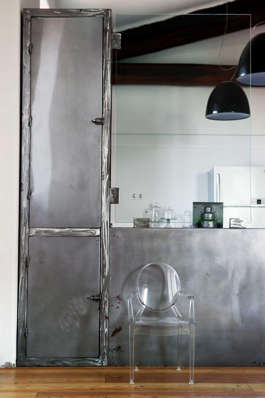 Cucina moderna / in acciaio inossidabile / in ferro / in laminato ...