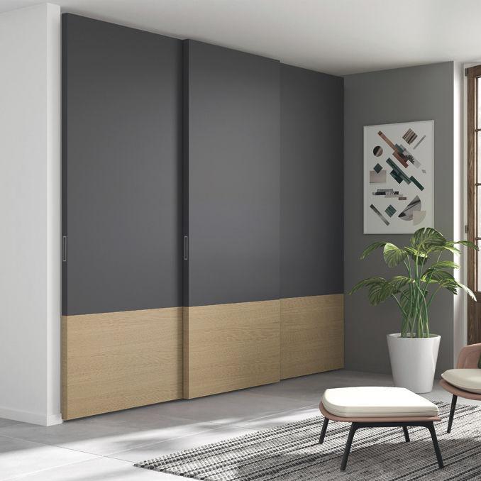 Armadio da parete / moderno / in legno laccato / in quercia ...