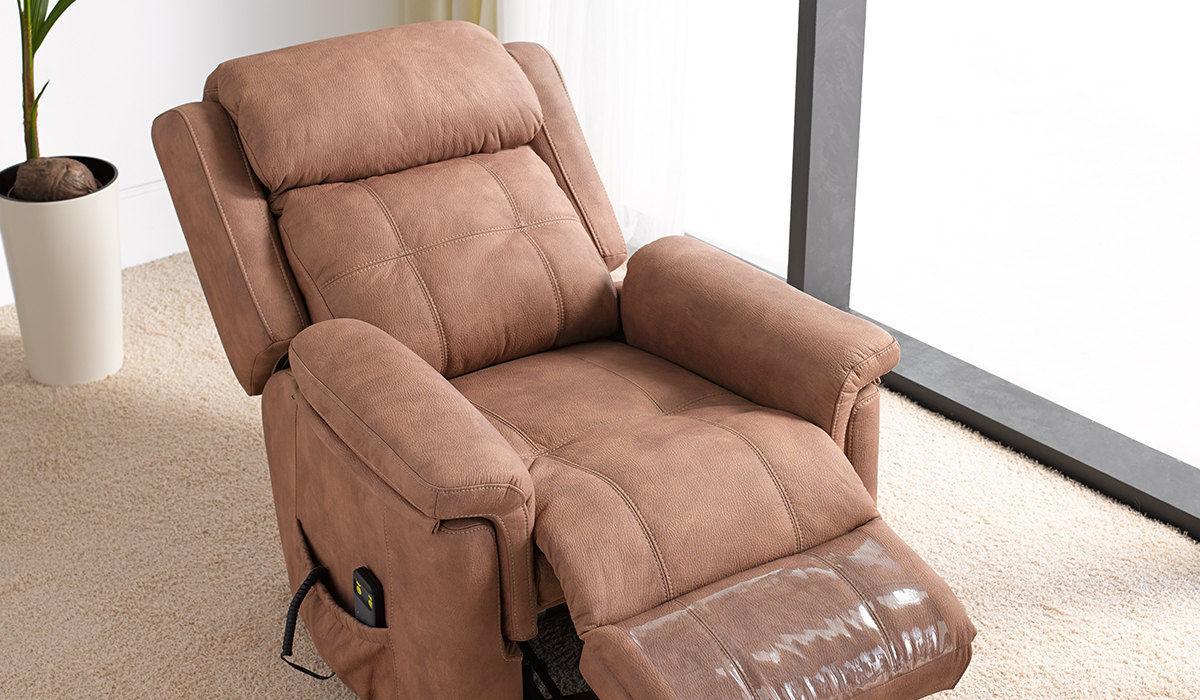 Poltrona moderna in pelle reclinabile elettrica galatea