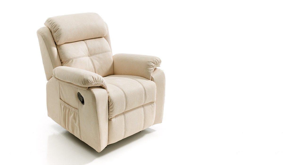 Poltrona moderna in tessuto reclinabile elettrica hero