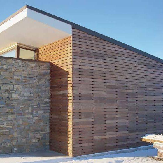 Rivestimento In Legno Per Facciate : Rivestimento di facciata in legno liscio a doghe ipe lapacho