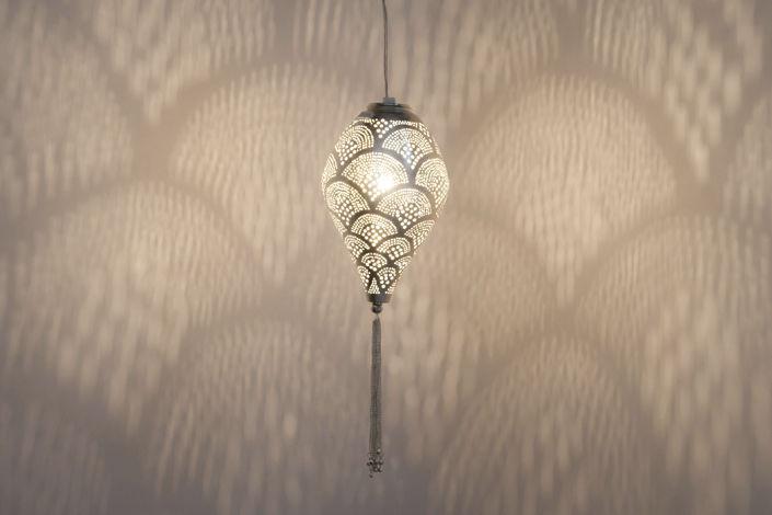 Lampada a sospensione moderna in ottone in nichel boho zenza