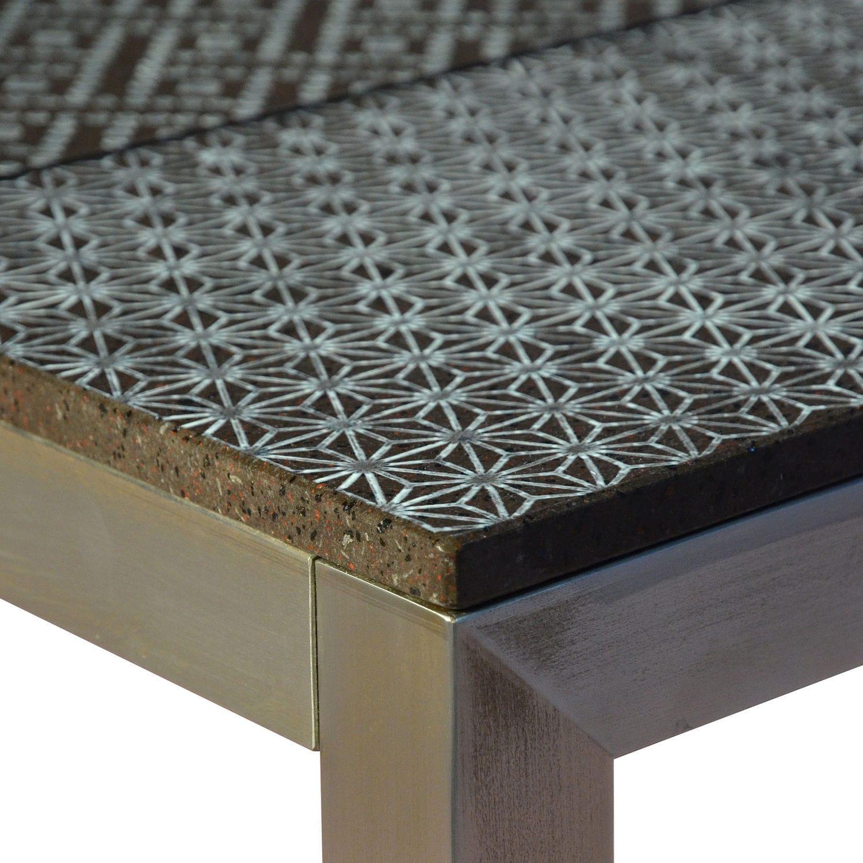 Tavolo in pietra lavica / rettangolare / da esterno / contract ...